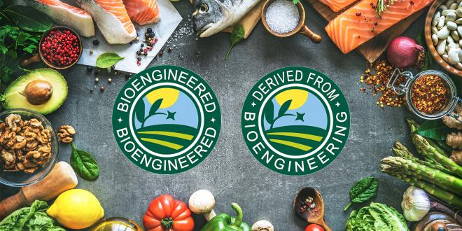 produce and meat surrounding the new bioengineering labels